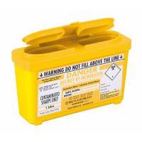 Sharps Bin Yellow Lid 1L