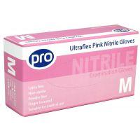 Pink Ultrflex Nitrile Gloves Qty 100